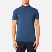 Tommy Hilfiger Men's Luxury Slim Fit Short Sleeve Polo Shirt - Sargasso Sea
