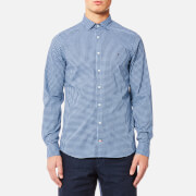 Tommy Hilfiger Men's Felga Heather Gingham Long Sleeve Shirt - Light Shirt Blue/Sky Captain
