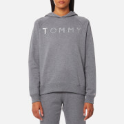 Tommy Hilfiger Women's Heavy Weight Tommy Hoody - Mid Grey Heather