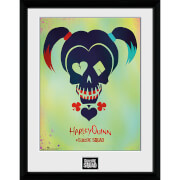 Suicide Squad Harley Quinn Skull - 16 x 12 Inches Framed Photograph