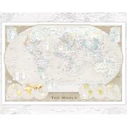 World Map Tripel - 40 x 50cm Mini Poster
