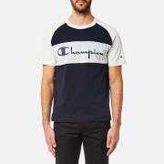 Champion Men's Colour Block T-Shirt - Navy/Grey Marl