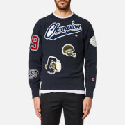 Champion Men's Appliqué Crew Neck Sweatshirt - Navy