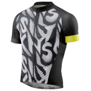 Skins Cycle Men's Classic Jersey - Black/Citron