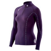 Skins Women's DNAmic Thermal Mock Neck Zip Long Sleeve Top - Purple