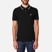 Pretty Green Men's Barton Short Sleeve Polo Shirt - Black