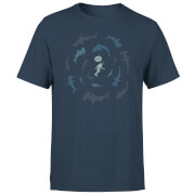 T-Shirt Homme Grand Requin Blanc - Bleu Marine