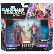 Hasbro Marvel Legends Series Star Lord and Youndu 2 Pack Action Figures