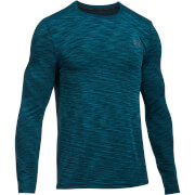 Under Armour Men's Threadborne Seamless Long Sleeve Top - Black/Blue