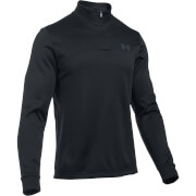 Under Armour Men's Armour 1/4 Zip Fleece Hoody - Black