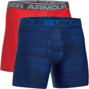 Under Armour Men's 2 Pack Original 6 Inch Boxerjock - Blue/Red