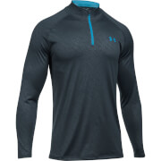 Under Armour Men's Tech Emboss 1/4 Zip Long Sleeve Top - Grey/Blue
