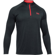 Under Armour Men's Tech 1/4 Zip Long Sleeve Top - Black/Red