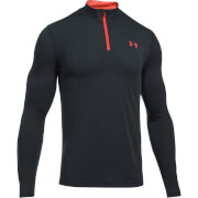 Under Armour Men's Threadborne Fitted 1/4 Zip Long Sleeve Top - Black/Red