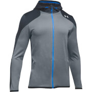 Under Armour Men's Reactor Full Zip Hoody - Grey/Blue