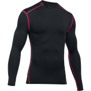 Under Armour Men's ColdGear Armour Long Sleeve Compression Top - Black/Red