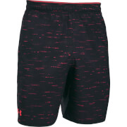 Under Armour Men's Qualifier Printed Shorts - Black/Red