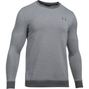 Under Armour Men's Fitted Crew Jumper - Dark Grey