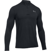 Under Armour Men's Threadborne Fitted 1/4 Zip Long Sleeve Top - Black