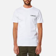 Carhartt Men's College Script T-Shirt - White/Navy