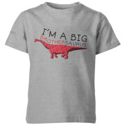 My Little Rascal Kids Im A Big Brothersaurus Grey T-Shirt