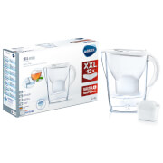 BRITA Maxtra+ Marella Cool Water Filter Jug Annual Pack with 12 Cartridges - White