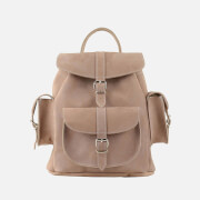 Grafea Women's Medium Nubuck Backpack - Mocha