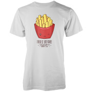 Kawaii Fries Before Guys T-Shirt - Weiß