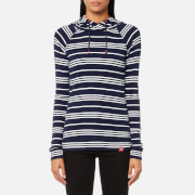 Joules Women's Marlston Hooded Sweatshirt - French Navy Stripe