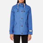 Joules Women's Coast Waterproof Hooded Jacket - Mid Blue