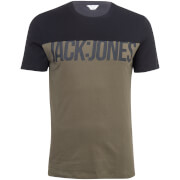 Jack & Jones Core Men's Char T-Shirt - Khaki/Black