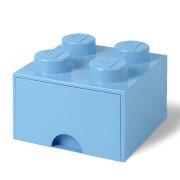 LEGO Storage 4 Knob Brick - 1 Drawer (Light Royal Blue)