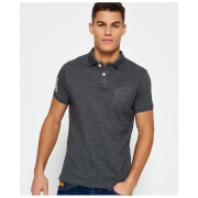 Superdry Men's Classic Emboss Pique Short Sleeve Polo Shirt - Grey Grit