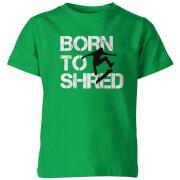 My Little Rascal Kids Born to Shred Green T-Shirt