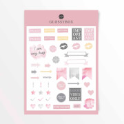 GLOSSYBOX Back To School Sticker Set