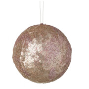 Parlane Sequin Hanging Decoration (10 x 10cm) - Pink Bauble
