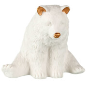 Parlane Paignton Ceramic Polar Bear Decoration (8 x 10cm) - White