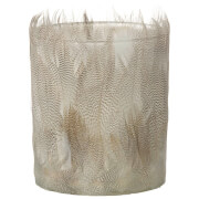 Parlane Feather Tealight Holder (10 x 8cm) - White