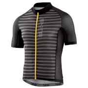 Skins Cycle Men's Love Cats Jersey - Black/Pewter Stripe