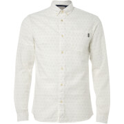 Jack & Jones Originals Mutough Printed Long Sleeve Shirt - Cloud Dancer