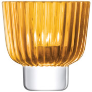 LSA Pleat Tealight Holder - 9.5cm - Amber