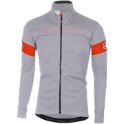Castelli Transition Jacket - Luna Grey/Orange