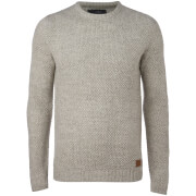 Threadbare Men's Sedley Crew Neck Jumper - Winter White Twist