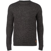 Threadbare Men's Sedley Crew Neck Jumper - Jet Black Twist