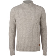Threadbare Men's Griffin Turtleneck Jumper - Dover Marl