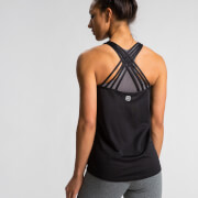 Crossback Tank Top - Black
