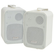 AV: Link 3 Way Background 30W Stereo Speakers - White