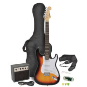 Chord CAL63PK-SB Electric Guitar and Amp Bundle - 3 Tone Sunburst