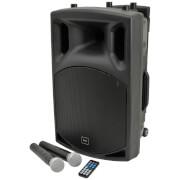 QTX QX12PA Portable Bluetooth PA System - Black (USB/SD/FM/12 Inch Driver)