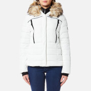 Superdry Women's Glacier Biker Coat - White